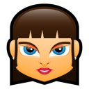 128x128px size png icon of Female Face FB 3