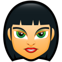 128x128px size png icon of Female Face FC 4