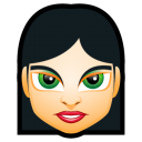 128x128px size png icon of Female Face FI 4