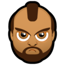 128x128px size png icon of Male Face J1
