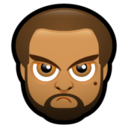 128x128px size png icon of Male Face J2