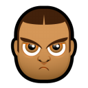 128x128px size png icon of Male Face J5