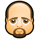 128x128px size png icon of Male Face K1