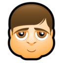 128x128px size png icon of Male Face K2