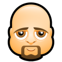 128x128px size png icon of Male Face K5