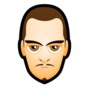 128x128px size png icon of Male Face L5