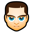 128x128px size png icon of Male Face M3