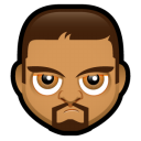 128x128px size png icon of Male Face O1