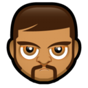 128x128px size png icon of Male Face O3