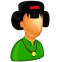Asian Female Boss Icon