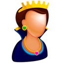 128x128px size png icon of Queen