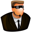 128x128px size png icon of Security Guard