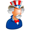 128x128px size png icon of Uncle Sam