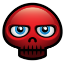 128x128px size png icon of red skull