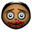 128x128px size png icon of zombie 2