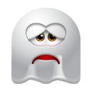 128x128px size png icon of Ghost Sad