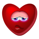 128x128px size png icon of Heart Shy