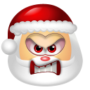 128x128px size png icon of Santa Claus Angry
