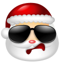 128x128px size png icon of Santa Claus Cool