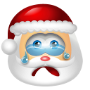 128x128px size png icon of Santa Claus Cry