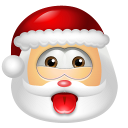 128x128px size png icon of Santa Claus Impish