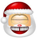 128x128px size png icon of Santa Claus Laugh