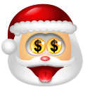 128x128px size png icon of Santa Claus Money