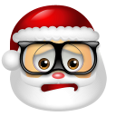 128x128px size png icon of Santa Claus Nerd