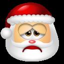 128x128px size png icon of Santa Claus Sad