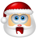128x128px size png icon of Santa Claus Shock