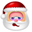 128x128px size png icon of Santa Claus Shy