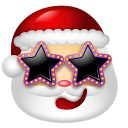 128x128px size png icon of Santa Claus Stars