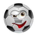 128x128px size png icon of SoccerBall Wink