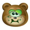 Teddy Bear Sick Icon
