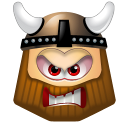 128x128px size png icon of Viking Angry