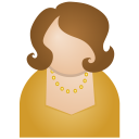 128x128px size png icon of brown woman