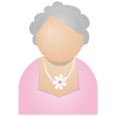 128x128px size png icon of grey woman