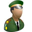 128x128px size png icon of Army officer