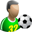 128x128px size png icon of Footballer