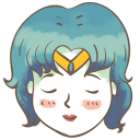 128x128px size png icon of sailor mercury