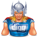 128x128px size png icon of digg thor