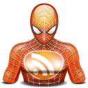 128x128px size png icon of rss spiderman
