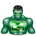 128x128px size png icon of sharethis hulk