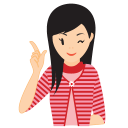 128x128px size png icon of girl idea
