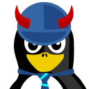 128x128px size png icon of ACDC Tux