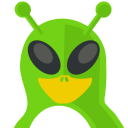128x128px size png icon of Alien Tux