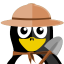 128x128px size png icon of Archaeologist Tux