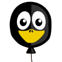 128x128px size png icon of Balloon Tux