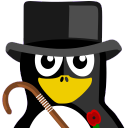 128x128px size png icon of British Tux
