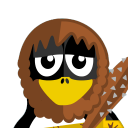 128x128px size png icon of Caveman Tux